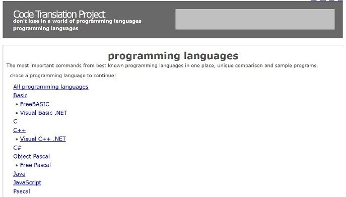 Programming languages reference | Download free books legally