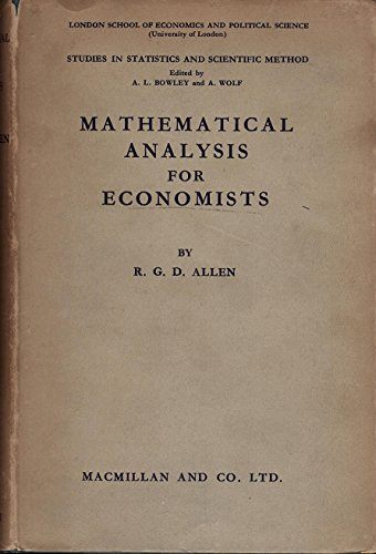 Mathematical Analysis for Economists | Download free books legally