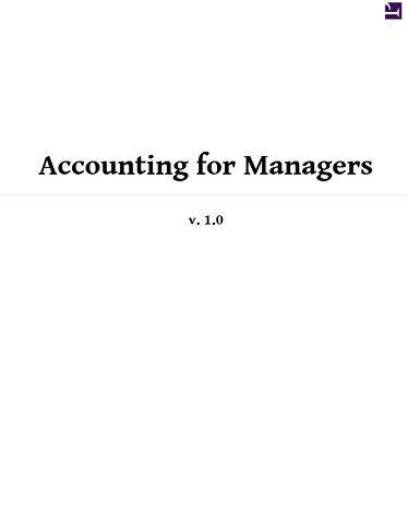 Accounting for Managers, by Srinivas R. Rao: FREE Book ...